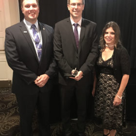 2018 Jon S. Ferguson Excellence in Teaching winner, Belton High School ELA teacher, Andrew Mullen