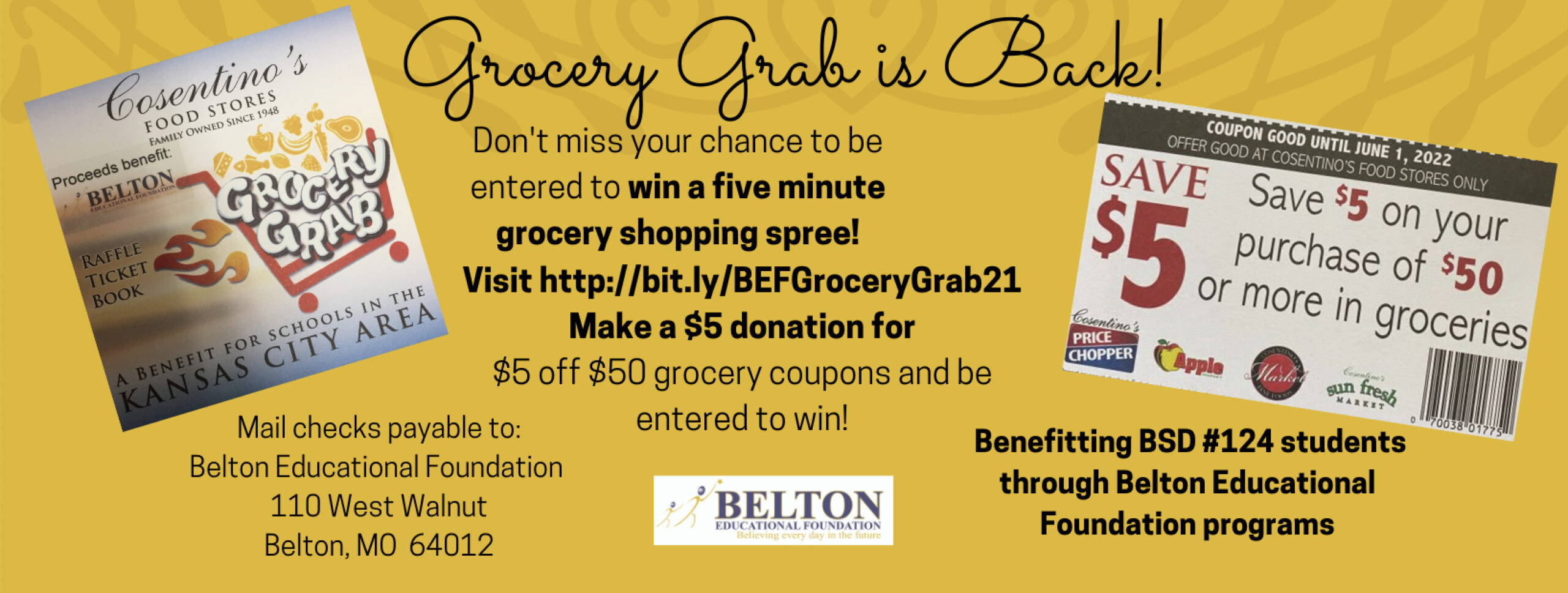 Get your Grocery Grab Tickets TODAY!